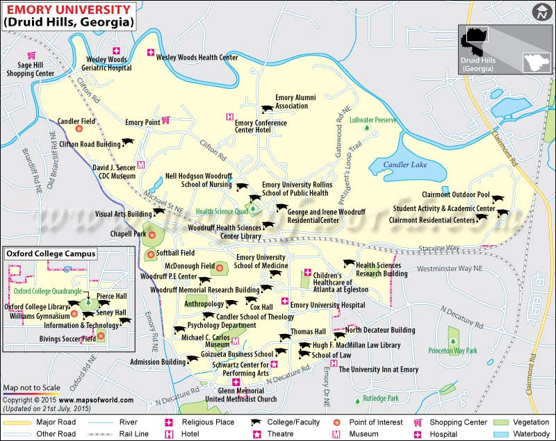 Emory University Map | Emory University Campus Map | US ...