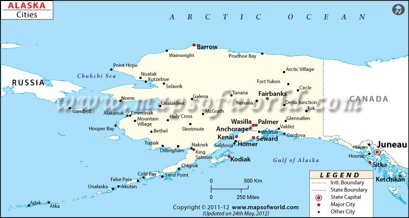 cities in alaska map of alaska cities. Black Bedroom Furniture Sets. Home Design Ideas