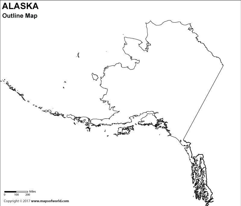 Alaska Outline Map