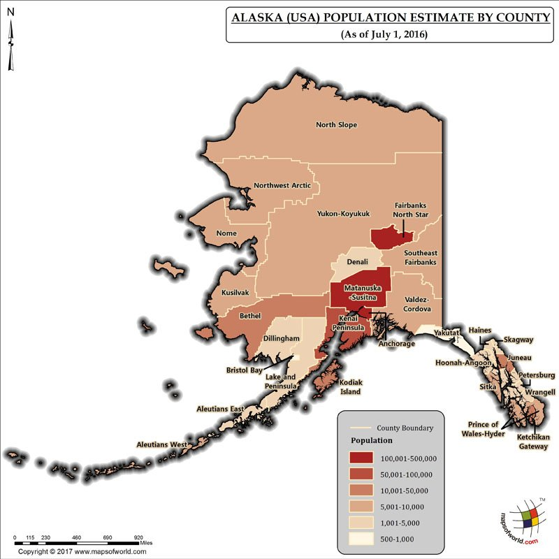 Alaska Latitude and Longitude Map