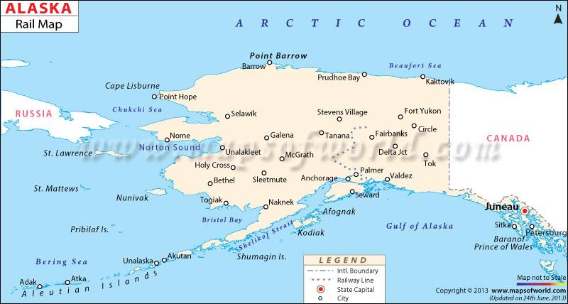 Alaska Rail Map
