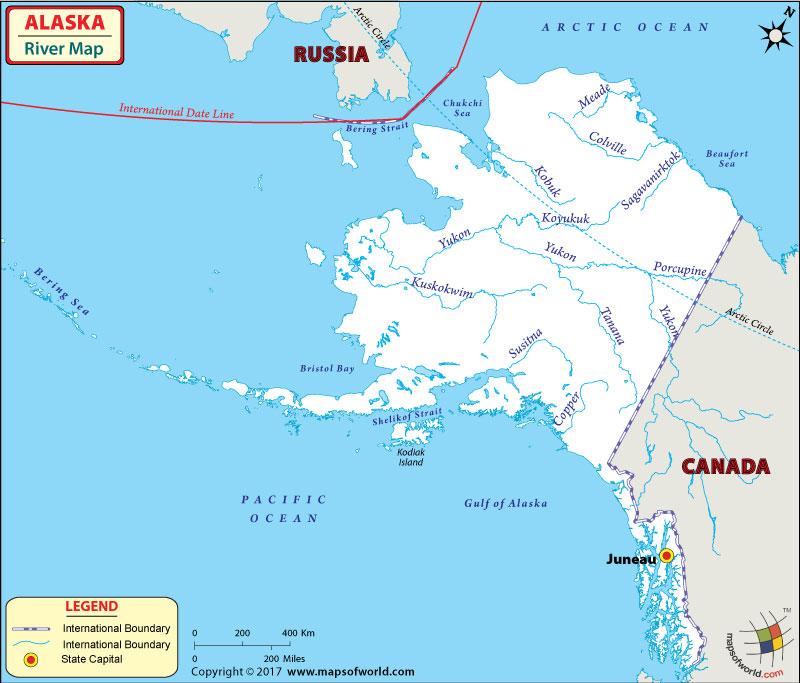 Map Of Alaska Rivers And Lakes