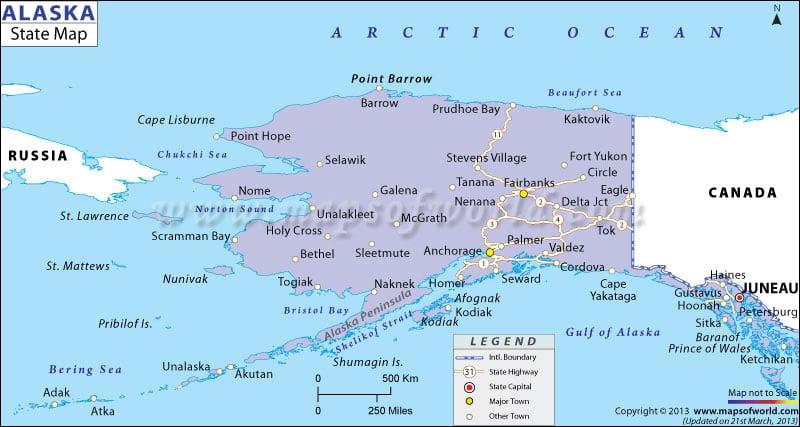 State Map of Alaska