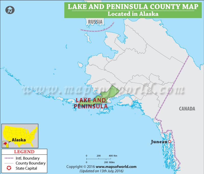 Lake And Peninsula County Map