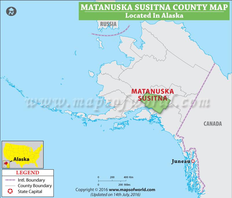 Matanuska Susitna County Map