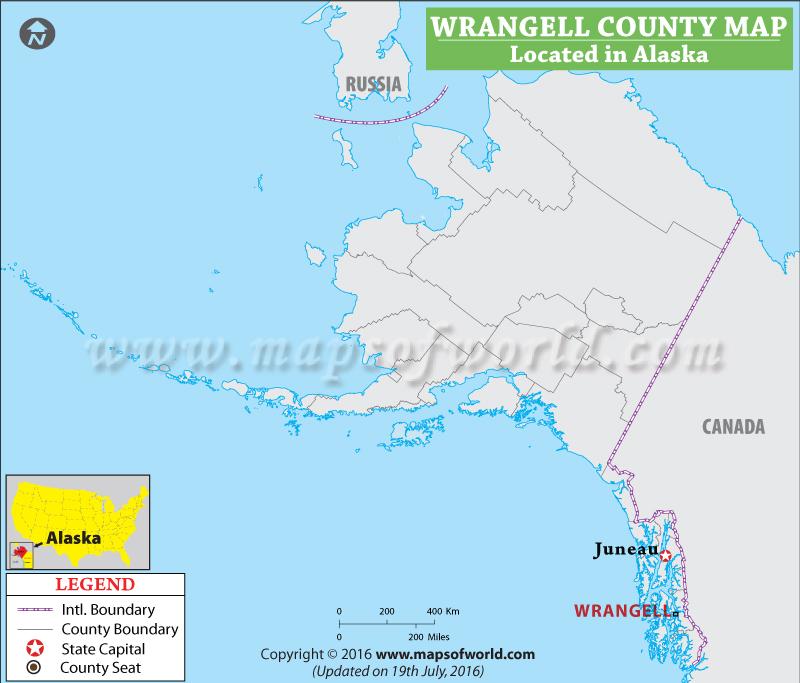 Borough Of Wrangell County Map