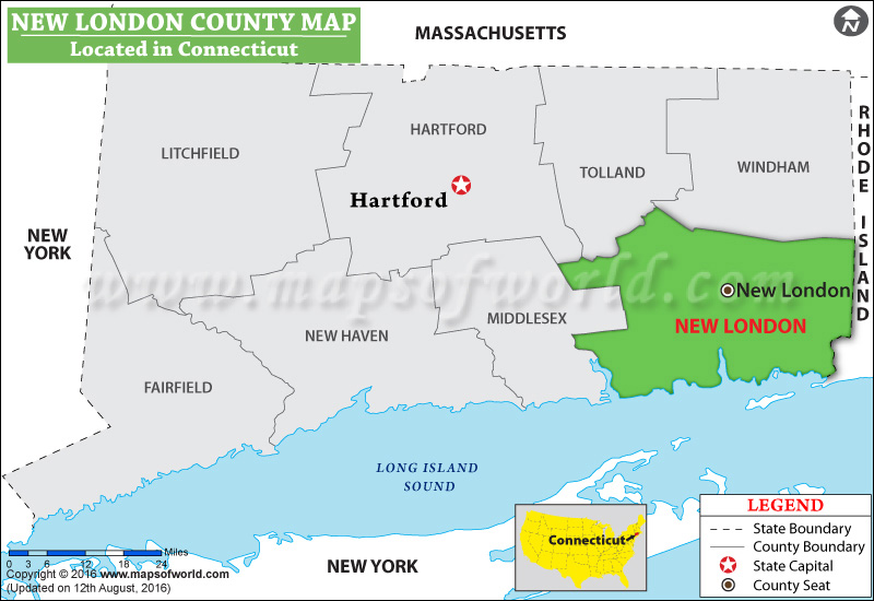 New London County Map