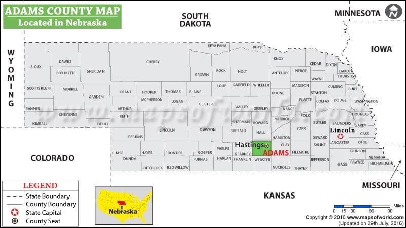 Adams County Map