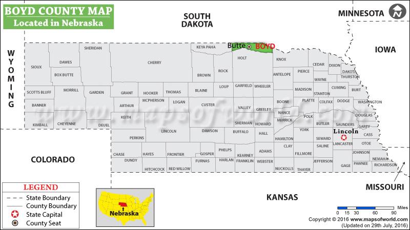 Boyd County Map
