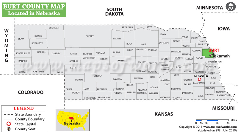 Burt County Map