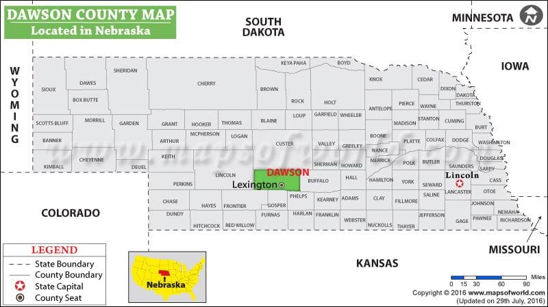 Dawson County Map