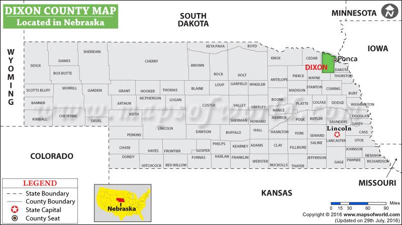 Dixon County Map