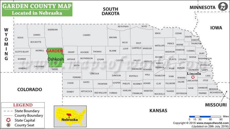 Garden County Map