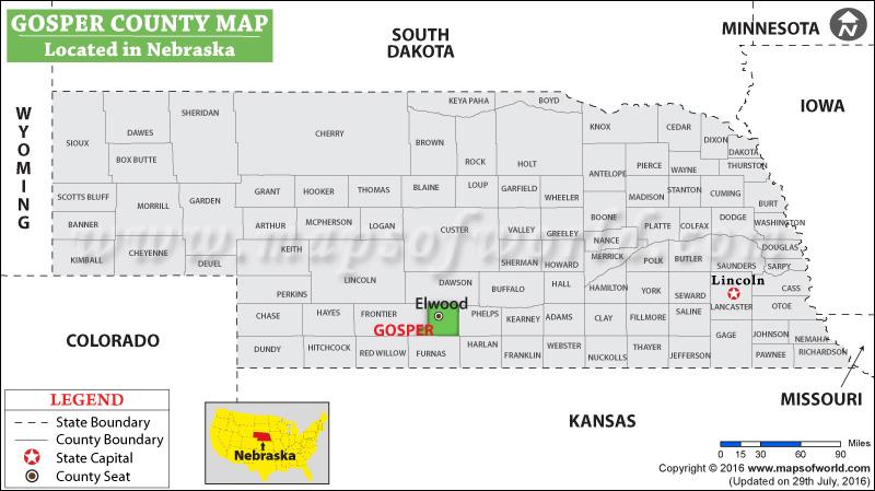 Gosper County Map