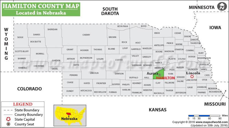 Hamilton County Map