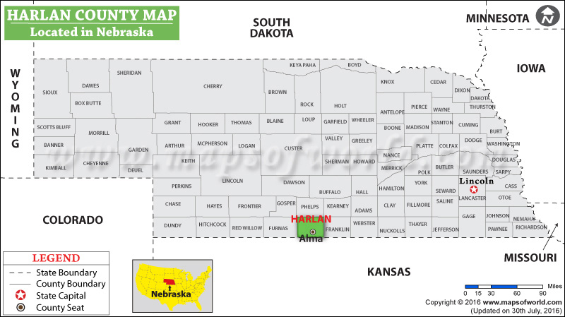 Harlan County Map