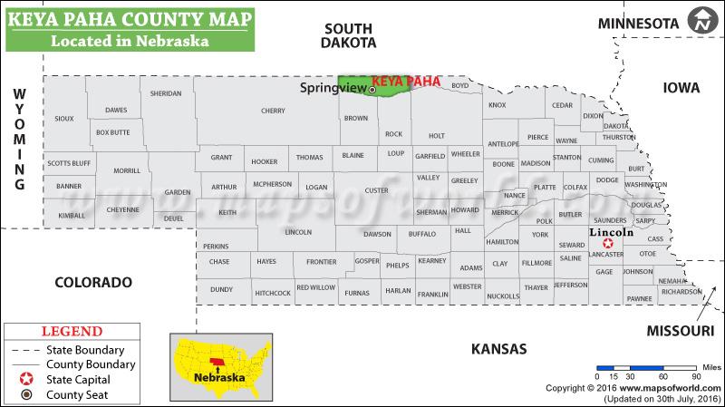 Keya Paha County Map