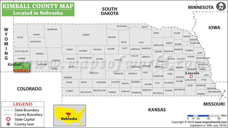 Kimball County Map