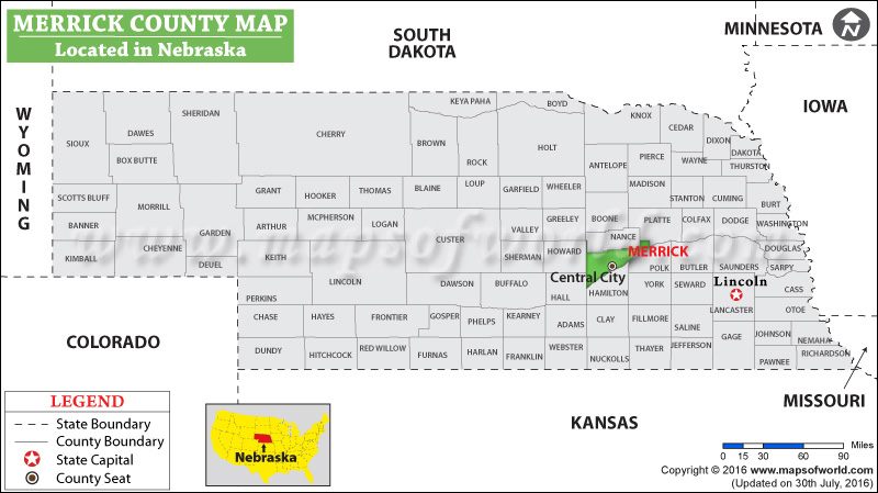 Merrick County Map