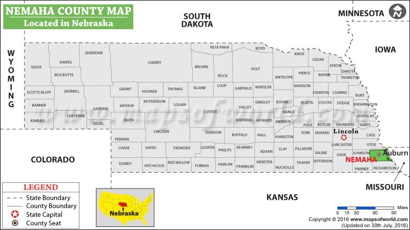 Nemaha County Map