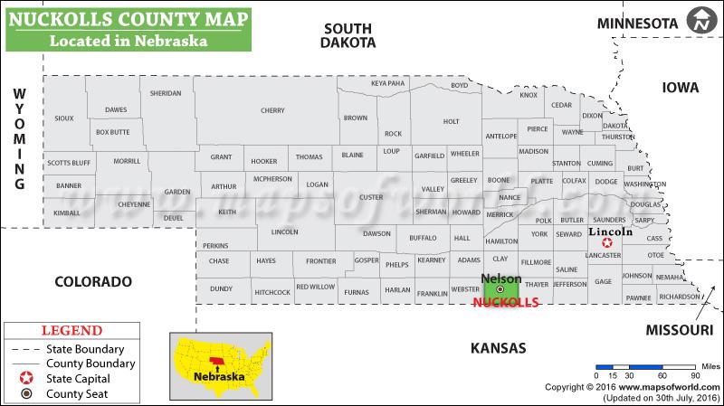 Nuckolls County Map