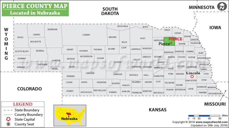 Pierce County Map Nebraska