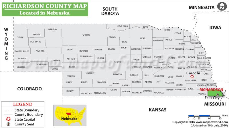Richardson County Map
