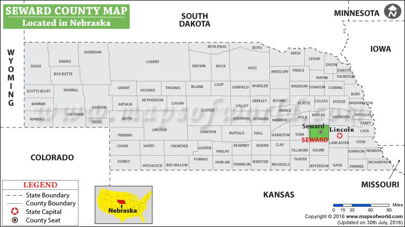 Seward County Map