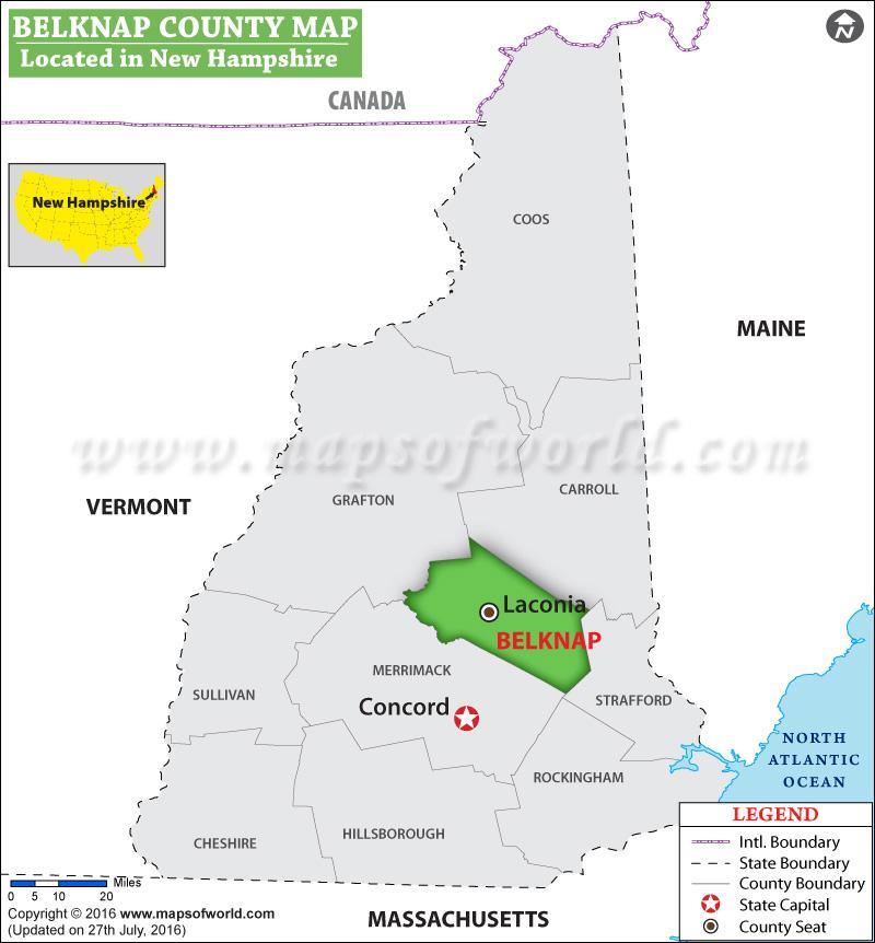 Belknap County Map