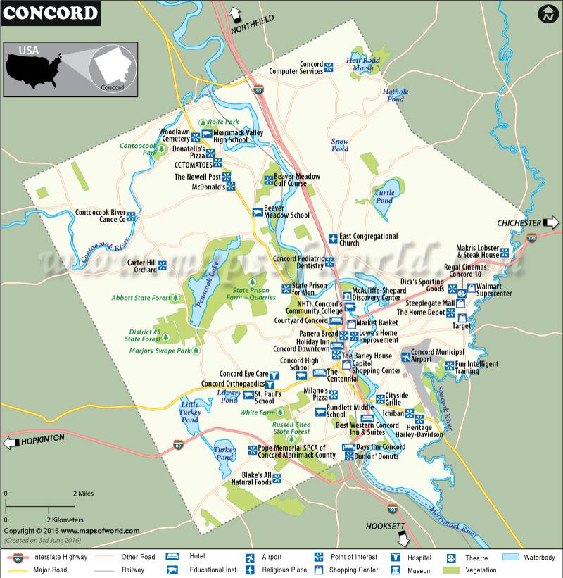 Concord Map