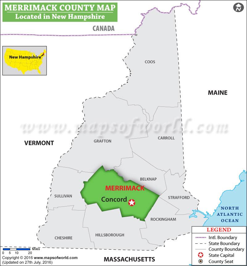 Merrimack County Map