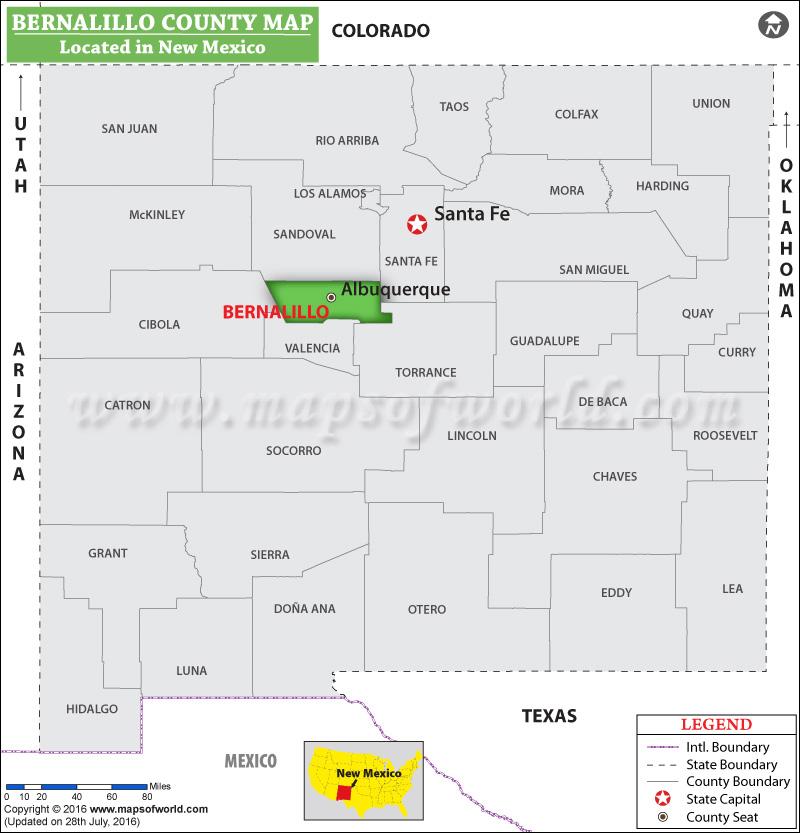 Bernalillo County Map