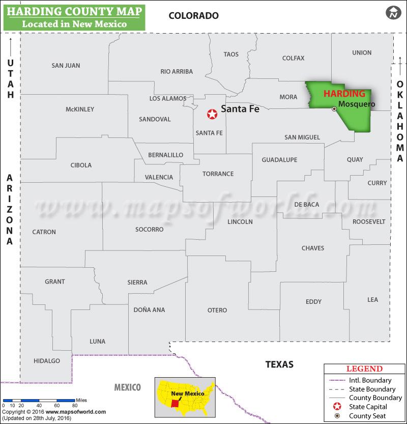 Harding County Map