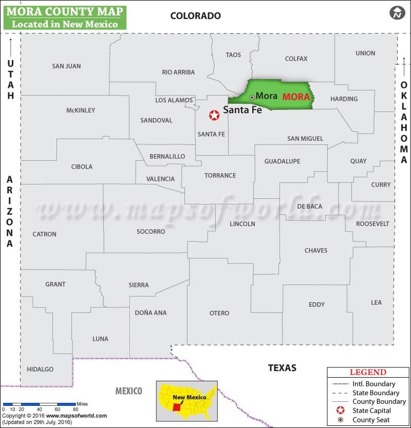 Mora County Map New Mexico