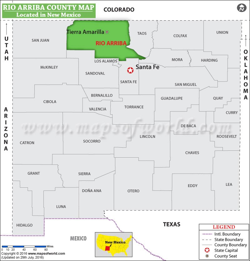 Rio Arriba County Map