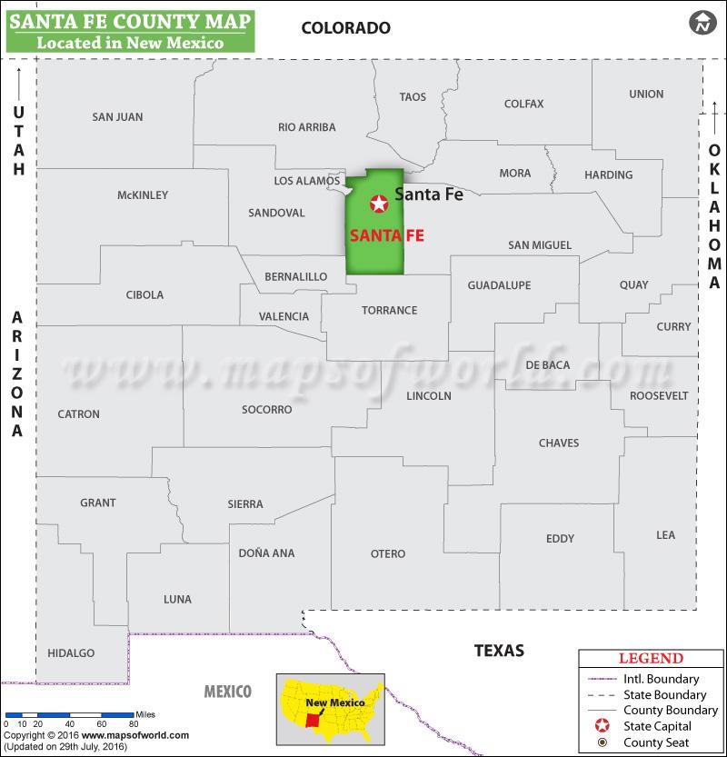 Santa Fe County New Mexico: Santa Fe County Map, New Mexico