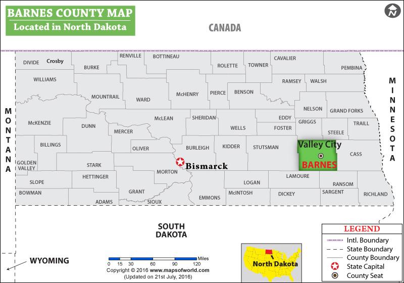 Barnes County Map