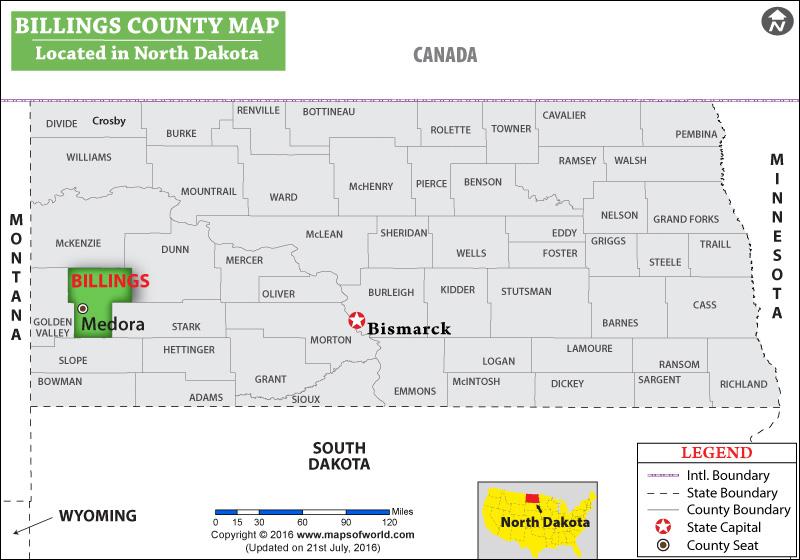 Billings County Map