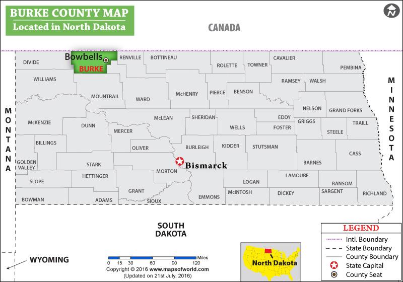 Burke County Map