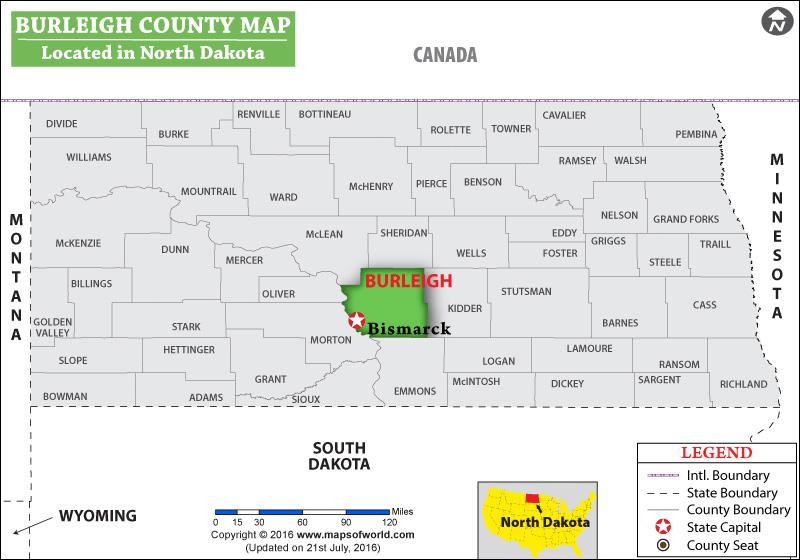 Burleigh County Map