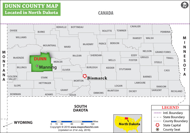 Dunn County Map