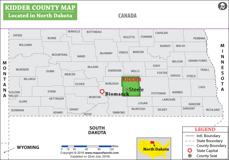 Kidder County Map