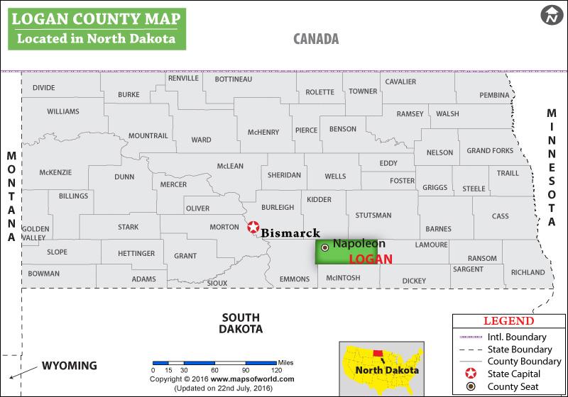 Logan County Map