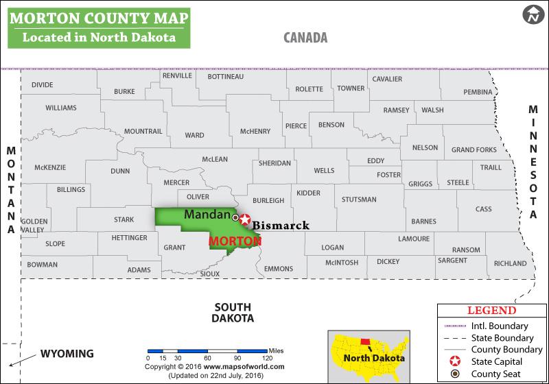 Morton County Map