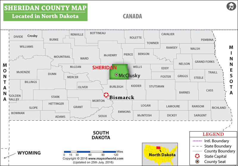 Sheridan County Map