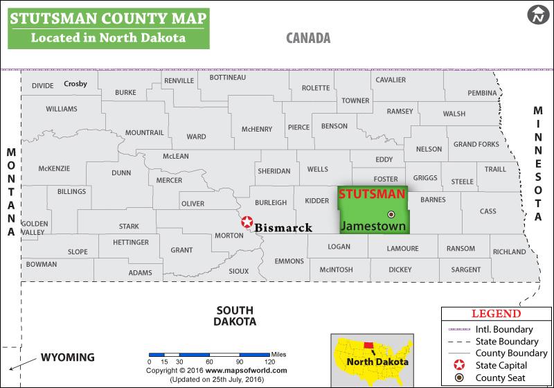 Stutsman County Map