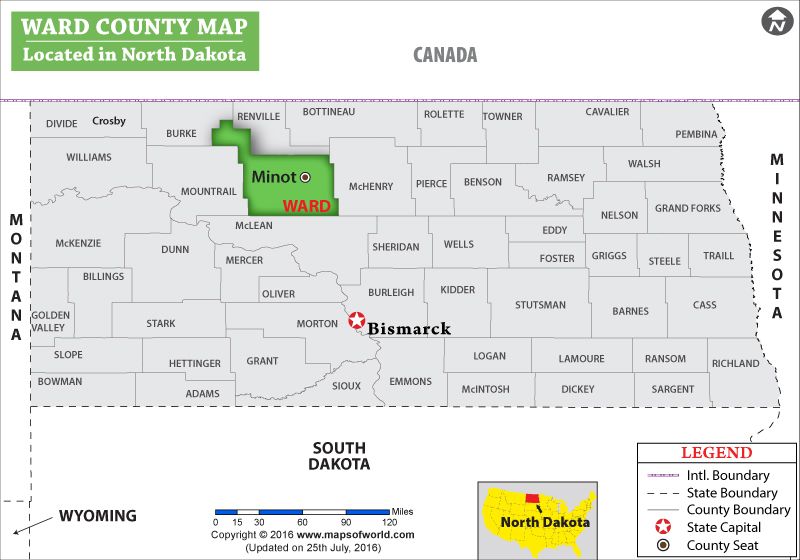 Ward County Map