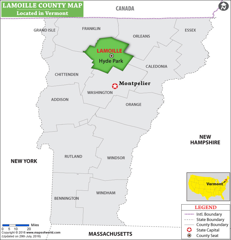 Lamoille County Map