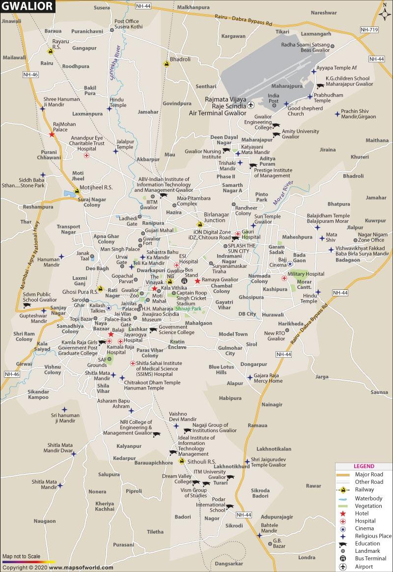Gwalior Map