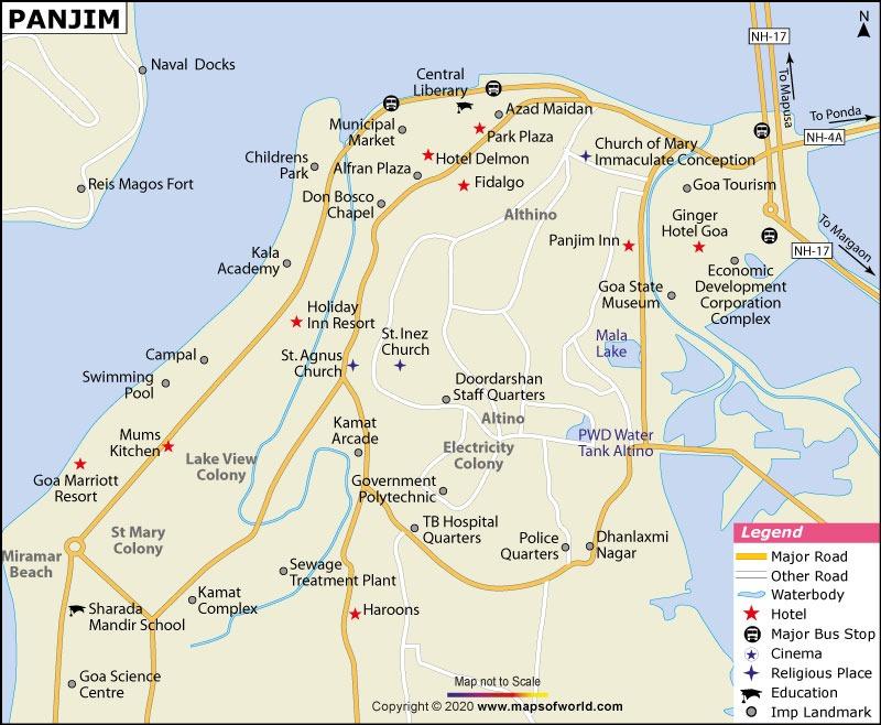 Panaji Map